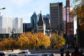 Montreal downtown in the fall. — Stock Photo