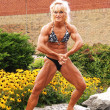 Stock Photo: Bodybuilding woman on location.