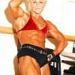 bodybuilding woman. — Stock Photo