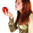 This apple is good. — Stock Photo