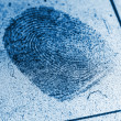 Dusty Fingerprint Record — Foto Stock