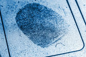 Dusty Fingerprint Record — Stock Photo