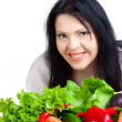 Royalty-Free Stock Photo: Beautiful woman  with vegetables