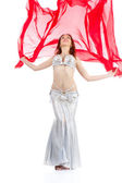 Dance woman over white background — Stock Photo