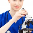 Woman doctor in uniform — Stock Photo #4489474