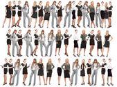 Mnoho lidí izolovaných na bílém — Stock fotografie