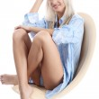 Beautiful woman with blond hair — Stock Photo