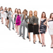 Many peoples isolated over white — Stock Photo