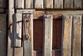 Door with a handle — Stock fotografie