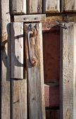 Door with a handle — Stok fotoğraf