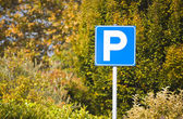Autumn parking slot — Stock Photo