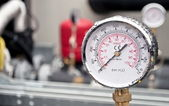 Industrial hydraulic barometer — Stock Photo