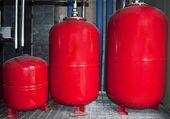 Internal industrial boilers — Stock Photo