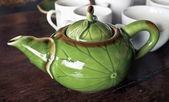 зеленый чайник — Стоковое фото