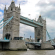 London Bridge Over The River Thames, England Uk - Stock Photo