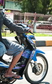 Motorcycle In Motion — Stock Photo