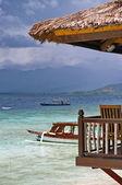美妙的热带海滩度假村 — 图库照片