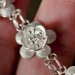 Silver lotus flower — Stock Photo #4933429