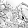 Stock Photo: White gold jewelry