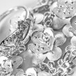 White gold jewelry - Stock Photo