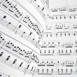 White musical score — Stock Photo