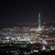 Night sense of the Taipei City — 图库照片