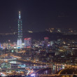 Night sense of Taipei City — Stock Photo #4580989