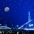 Snow Night sense of Taipei City — Zdjęcie stockowe #4583873