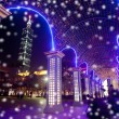 Snow Night sense of Taipei City — Stockfoto #4584554