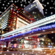 Stock fotografie: Snow Night sense of Taipei City