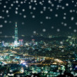 Stockfoto: Snow Night sense of Taipei City