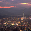Night sense of the Taipei City — Stock Photo