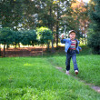 Running boy — Stock Photo
