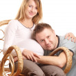 Happy pregnant couple — Stock Photo