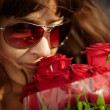 Woman with roses - Stock Photo