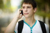 Teen on the phone — Stock Photo
