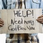 Help!Need money! — Stock Photo #4723435