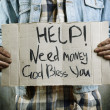 Help!Need money! - Stock Photo