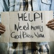 Help!Need money! — Stock Photo