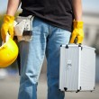 Royalty-Free Stock Photo: Builder with tool case