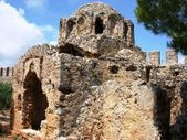 Old Byzantine church in fortress Alanya — Stock Photo