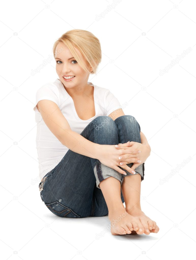 Bright picture of happy and carefree teenage girl — Stockfoto #5231986