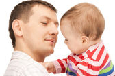Happy father with adorable baby — Stockfoto