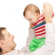 Happy father with adorable baby — Stock Photo #5291130