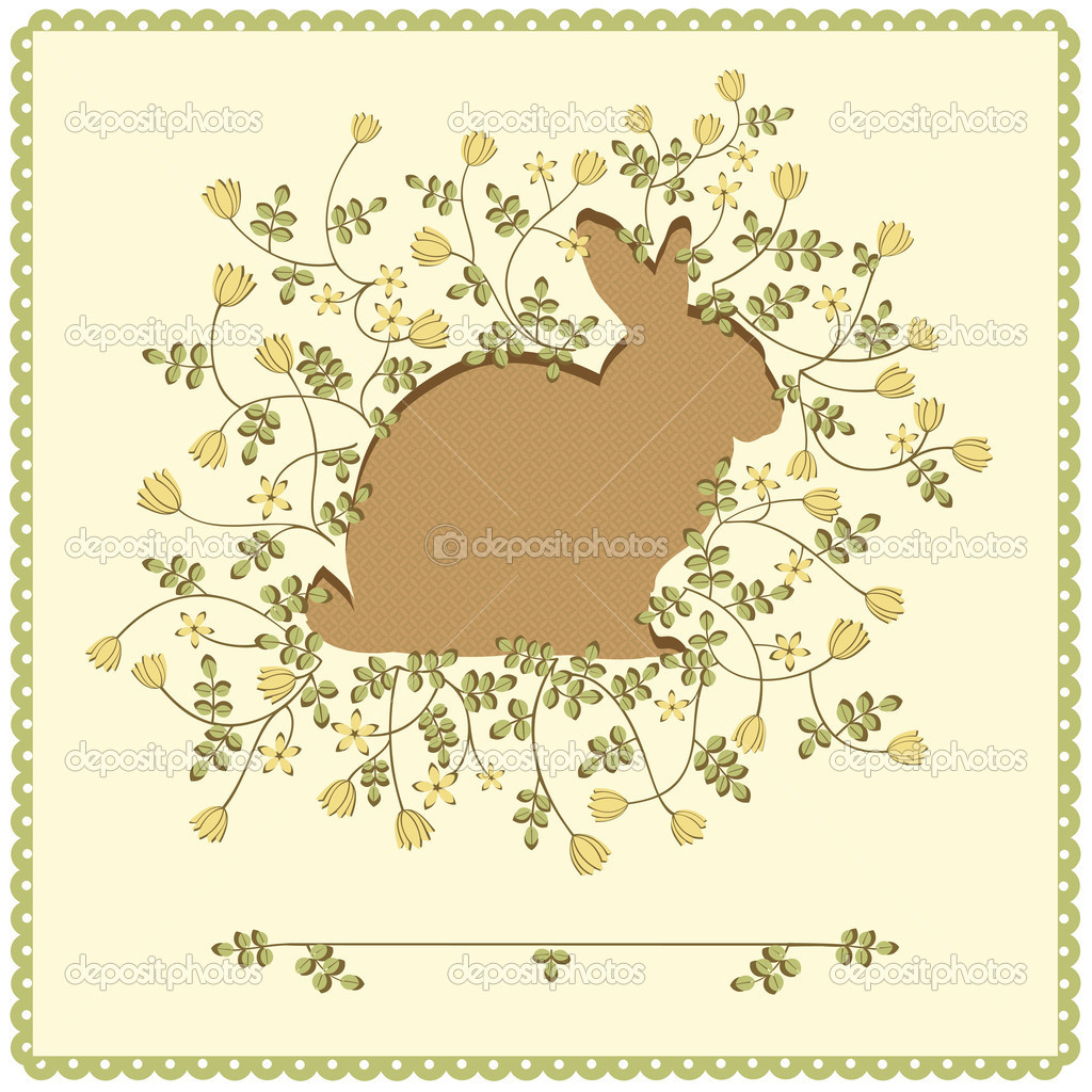 Vector art-illustration that represents the easter background. It can be used as a greeting card sample. — Stock Vector #4919348