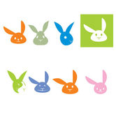 Rabbits logo — Stock Vector