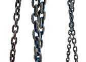 Old steel chain on white background — Stock Photo