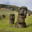 Stock Photo: Abandoned moai