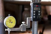 Industrial pressure gauge — Stock Photo