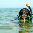 The guy dive under water — Stock Photo